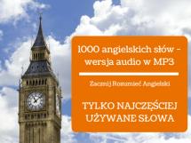 Kurs języka angielskiego 1000 słów wersja audio w MP3