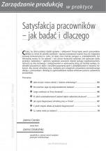 Satysfakcja pracowników - jak badać i dlaczego? / Joanna Czerska, Joanna Dziekońska